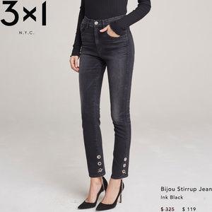 3x1 - Bijou Stirrup Skinny Jeans (INK BLACK)